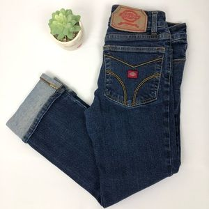 Dickies Cuffed Denim Jeans size 5